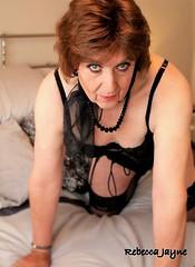 Taking a negotiating stance! (rebeccajaynegrey) Tags: crossdresser transvestite transgender crossdress cd tgirl tg crossdressing