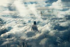 """Cloud Walker"" (Kavan The Kid) Tags: kavan kid surreal surrealism photography art fineart self portrait heaven alone abstract 365project weird photoshop imagination strange amazing awesome clouds sky gate"