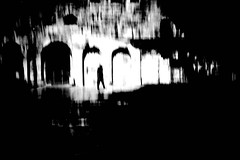 for nobody could foresee (ChrisRSouthland) Tags: athens icm intentionalcameramovement blackwhite blackandwhite monochrome leicammonochrom elmarit28mmf28 ruins