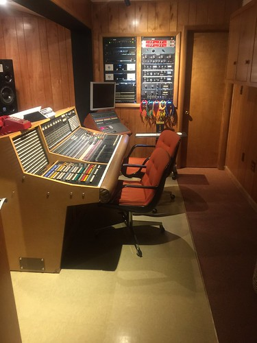 Soundboard in control room