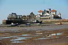 Knightstone Island (JamieHaugh) Tags: westonsupermare northsomerset knightstone island outdoors sony a6000 mud sand beach seafront seaside buildings architecture water color landscape