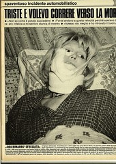 Gente (Nobo Sprits) Tags: gente 1 maggio 1987 amanda lear ospedale stradale casino ruhl rivista incidente ferito d'auto magazine almes 9 aprile mercedes 450 car crash accident de voiture collision