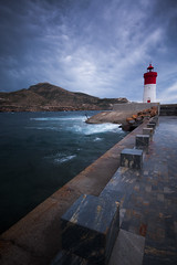 Faro Rojo (José Andrés Torregrosa) Tags: cartagena canon40d murcia mar paisaje faro
