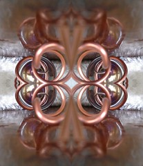 Mirror Mirror (rhonda_lansky) Tags: mirrormirror reflection dimension poetic copper glass artwork rhondalansky lansky aurorarose1st creations formations design abstractart visual mirroredshapes mirroredabstract mirrorart symmetryart symmetrical symmetricalart symmetryartist symmetricalartist expressive texture art abstract rhonda surreal pattern poems shortstories storys writing faces fantasy madeofmetal metal depthoffield reflections