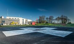 Air Rescue station in first sunrays. (dr.rol) Tags: hubschrauber luftfahrt rettungsdienst saarbrã¼cken