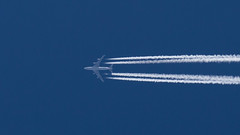 Kalitta Air B747-4B5(BCF) from Kuwait City to Rammstein at FL380 (Awesome Zoleeka) Tags: canon eos m contrail kalitta air boeing b747 cargo freighter kuwait rammstein germany