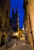 Le vieux Sarlat de nuit (2) (Erminig Gwenn) Tags: sarlatlacanéda aquitainelimousinpoitoucharen france aquitainelimousinpoitoucharentes fr 1576 canoneos6d caonn6d fulframe pleinformat 2436 adobelightroom6 adobelightroomcc lightroom dordogne périgord périgordnoir sudouest southwest wouthwest gascogne nouvelleaquitaine aquitaine sarlat ville town ancient old centre downtown centreville bourg nuit night nocturne bynight denuit pierres stones house maison church christian chrétien chrétienne catholic catholique église clochet towerbell tower bell sunset coucherdesoleil crépusculecouchant cloud bleu blue