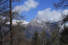 le Chavalard (bulbocode909) Tags: valais suisse montchemin chavalard montagnes nature printemps nuages arbres mélèzes ciel bleu