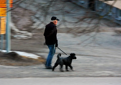 Walking the Dog (Linnea from Sweden) Tags: canon zoom lens efs 55250mm 4556 is walk dog street