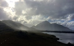 Watching the weather from TV Hill. Port Davey, Tasmania.