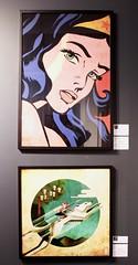 Girl Super Power (Grained'Acacia) Tags: expo femme girl heroine superheroine comics streetart photo