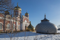 The domes of the Church of the Ascension. (Oleg.A) Tags: spring penzaregion russia church nature frost outdoor rural villiage snow morning byzantine orthodox bell architecture cathedral dome landscape spassk winter catedral landscapes outdoors penzenskayaoblast ru