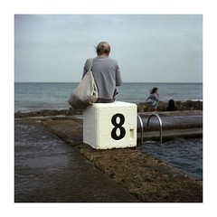 """""""Thank you for a memorable afternoon. Usually one must go to a bowling alley to meet a woman of your stature."""" (jean-christophe sartoris) Tags: plage piscine mer sea beach swimmingpool woman backportrait colors photo jcsartoris sartoris eight summer"""