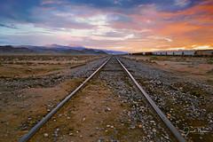 Trona, California (Six Sigma Man (2.700.000 views)) Tags: tronapinnacles california trona desert railroad tracks sunrise mojave greatphotographers greaterphotographers greatestphotographers ultimatephotographers