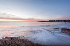 Swanage Surf Sunrise 01 (Photograferry) Tags: dorset southcoast uk nopeople outside landscape nature isleofpurbeck coast swanage touristdestination waves sea ocean longexposure clouds sunrise dawn groyne