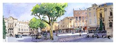 Apt - Provence - France (guymoll) Tags: streetviewdegoogleearth googleearth apt provence france vaucluse aquarelle watercolour watercolor croquis sketch ville panoramic panoramique