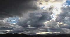 Broken sky (olgaibáñez) Tags: sky cielo nubes clouds tormenta storm rayosdesol sunshine paisaje landscape lluvia rain