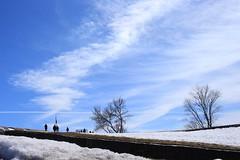 Les Plaines d'Abraham. (odeber) Tags: québec canada obernard winter hiver sky