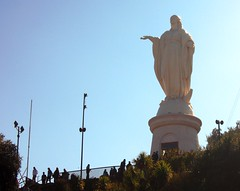Chile (Santiago) Statue of the Virgin Mary (ustung) Tags: chile santiago statue virginmary sanchristobal view architecture nikon