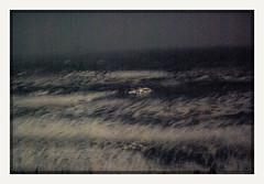lost at sea (chickentender™ (Eyewanders Foto)) Tags: 2009 adrift alone crash eyewandersfoto failedbutsucceed film foam found home inkynight kalaloch lifeboat lost moonlight nakoluktan night ocean pentax sea sparkleinthedark sucessfulfailures surf pentaxk10d