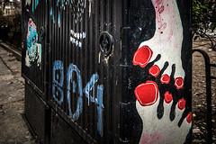 B04 (Melissa Maples) Tags: софия sofia българия bulgaria europe nikon d3300 ニコン 尼康 sigma hsm 1020mm f456 1020mmf456 sofiagraffititour winter graffiti streetart art transformerbox red pedicure toenails toes feet black b04 text