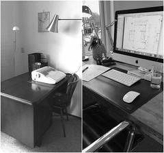 toen en nu (=Mirjam=) Tags: 52weeksof2017 bw computer desk april 2017