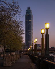 St. George Wharf | Evening (James_Beard) Tags: stgeorgewharf stgeorgewharftower tower london londonskyline modernarchitecture vauxhall bluehour dusk sunset lights fujixe2 fujixf1855