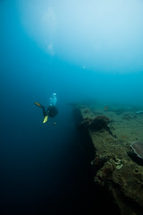 On the right (Alex Tischenko) Tags: santo scuba ss sub strobes ds fish housing president stobes divers diving dark deep 5d adventure underwater candid children holiday coolidge ikelite light tropical canon clear torch water travel photography vanuatu natural blue