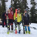 Whistler Spring Series Slalom - Day 2 Ladies' U19 podium