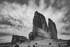 The Organ and Tower of Babel at Arches National Park (Xiang&Jie) Tags: theorgan towerofbabel archesnationalpark nationalpark arches utah blackandwhite magnificent
