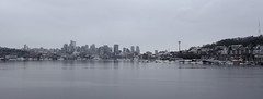 Seattle Skyline (Laurie4593) Tags: seattle washington gasworkspark coast westcoast city cityscape water cloudy park lakeunion canonrebelt3i canonefs1018mm wideangle bay