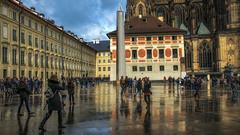 St. Vitus Cathedral Court Yard (emptyseas) Tags: emptyseas nikon d800 the metropolitan cathedral saints vitus wenceslaus adalbert gothic roman catholic prague czech republic