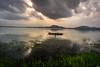 Stormy Weather (vasanthdavid) Tags: fishing boat boating net lake water sunrise storm clouds chenna india vasanthdavid