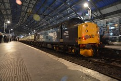"""Direct Rail Services 'Revised Swoosh' Class 37/7, 37716 (37190 """"Dalzell"""") Tags: drs directrailservices revised compass swoosh ee englishelectric type3 growler tractor heavyweight class37 class377 37716 l034 l23 37094 d6794 pathfindertours railtour theeverywhereagain theeveninglark thenightowl theroundrobin limestreet liverpool"""