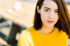 Look (miguel_lorente) Tags: naturallight portrait girl portraiture young street woman eyes shorthair redlips outdoors yellow amsterdam city