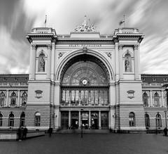 Keleti pályaudvar (Magyoz) Tags: spring hungary longexposure station train trainstation bw blackandwhite monochrome city street budapest rail