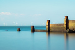 Mirrored Groynes (reeceyjo) Tags: coast beach sea groynes whitstable longexposure nikon mirror nd1000 beauty