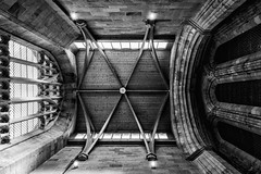 _DSF6602-Edit.jpg (douglasjarvis995) Tags: fuji xpro1 18mm blackwhite black white monochrome building church chapel entrance yorkshire boltonabbey abbey windows roof ceiling architecture