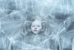 (nathanmagee) Tags: fineart fine art cold winter portrait 365 canon snow girl sister aliceinwonderland concept surreal ice cracks white blue hair face