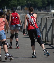 4 Wheel Propulsion (swong95765) Tags: skates roller wheels woman females ladies park skating travel transportation propultion exercise
