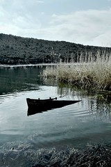 Sinking Boat CSC_1175 (joanna papanikolaou) Tags: lake lakescape scape scene scenery scenic lakescenery landscape prespes greece travel exploration macedonia national park nature water waterscape sinking boat fishing reeds wilderness