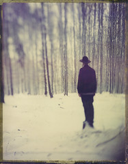 Spring, I Am Ready For You (Bastiank80) Tags: bastiank polaroid 79 largeformat spring roidweek woods snow