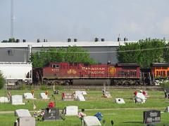 CP rail 9773 (Midwest_Matt9720) Tags: cp rail 9773 christmas train manifest bnsf kansas 2017 april light faded ge ac4400cw