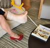 cast & heel (cast'n_heels) Tags: plastercast platform piedoplatre gipsbein slwc gehgips heel gesso legs highheel nylon