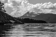 B&W bjørnafjorden 2 (Morten T.) Tags: fjord bjørnafjorden sea mountain mothernature tre tres clouds clo bw blackandwithe