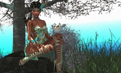 Never settle for anything less than butterflies (Alexa Maravilla/Spunknbrains) Tags: belleepoque we3roleplay empire kustom9 erschyokai lootbox lrweapons darkenedstare doe bloom littlebranch studioskye wereclosed secondlife sl people outdoors fantasy teal