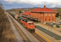 Aftermath of the Storm (BravoDelta1999) Tags: burlingtonnorthernsantafe bnsf railway canadianpacific cp rail milwaukeeroad milw railroad tomahsubdivision lacrosse wisconsin emd sd70ace 9053 ethanol train