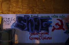 Coruña by night - What happened? Respect? (Dirk Bontenbal) Tags: coruña city ciudad emptystreets flashapagado galicia handheld k50 lacoruña nightphotography noflash notripod noche night pentax reflections reflejos ricohpentax streetphotography streetart urbano urban urbantexture grafitti