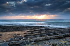 Sunset landscape in Água de Madeiros beach_ (silvinodasilvaphotography) Tags: atlantic sand blue brightness beach collecion clouds coastal dramatic seascape reflect foam green gold landscape nikon ocean sky rocks