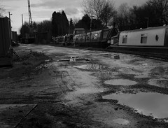 Langley Mill Muddy Marina. Feb 2016 (SimonHX100v) Tags: narrowboat narrowboating canal langleymillmarina langleymill marina derbyshire derby canalrivertrust canalandrivertrust inlandwaterways inlandwaterwaysassociation landscape landscapephotography blackandwhite blackwhite monochrome monotone greyscale grayscale bw bnw february february2016 winter winter2017 simonhx100v sonydschx100v sonyhx100v hx100v outdoor outdoors outside water iwauk flickrunitedaward